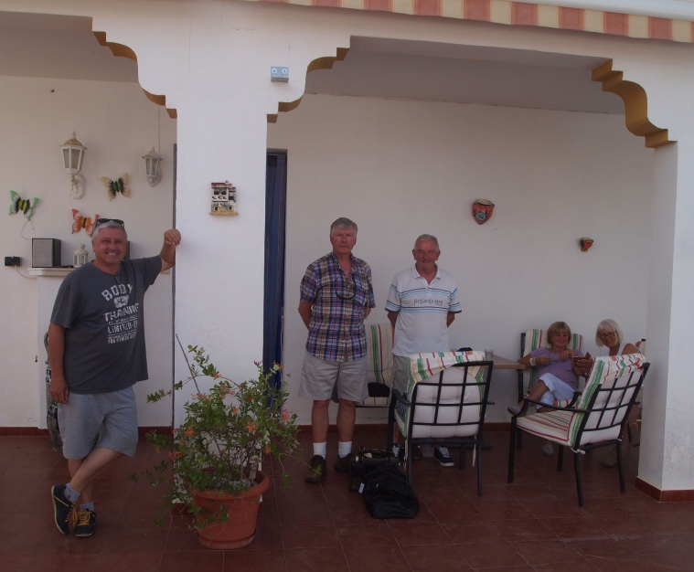 the whole gang: Scottish Barry, Australian Barry, Verna and Carole at the villa