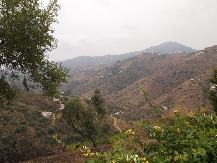 the view from Marianne and Michael's house between Torrox and Competa in Spain
