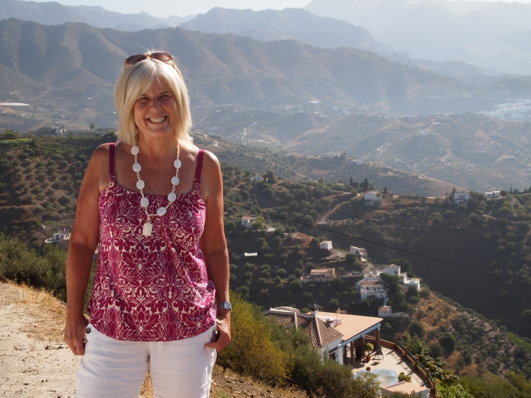 Me with Frigiliana in the background