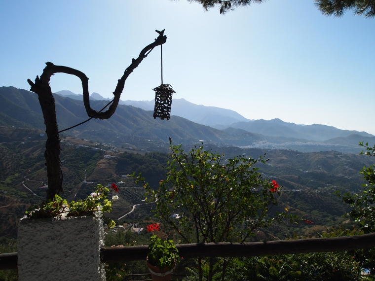 the view of Frigiliana from Los Caracoles Hotel