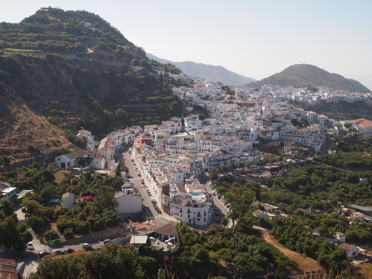 getting close to Frigiliana