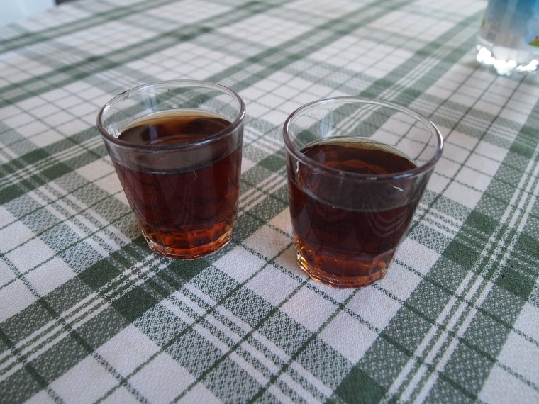 two glasses of Vino Dulce Moscatel (Sweet Muscat wine)