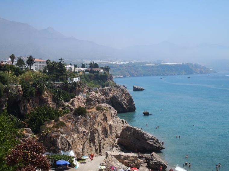 views of the coastline from Balcón de Europa