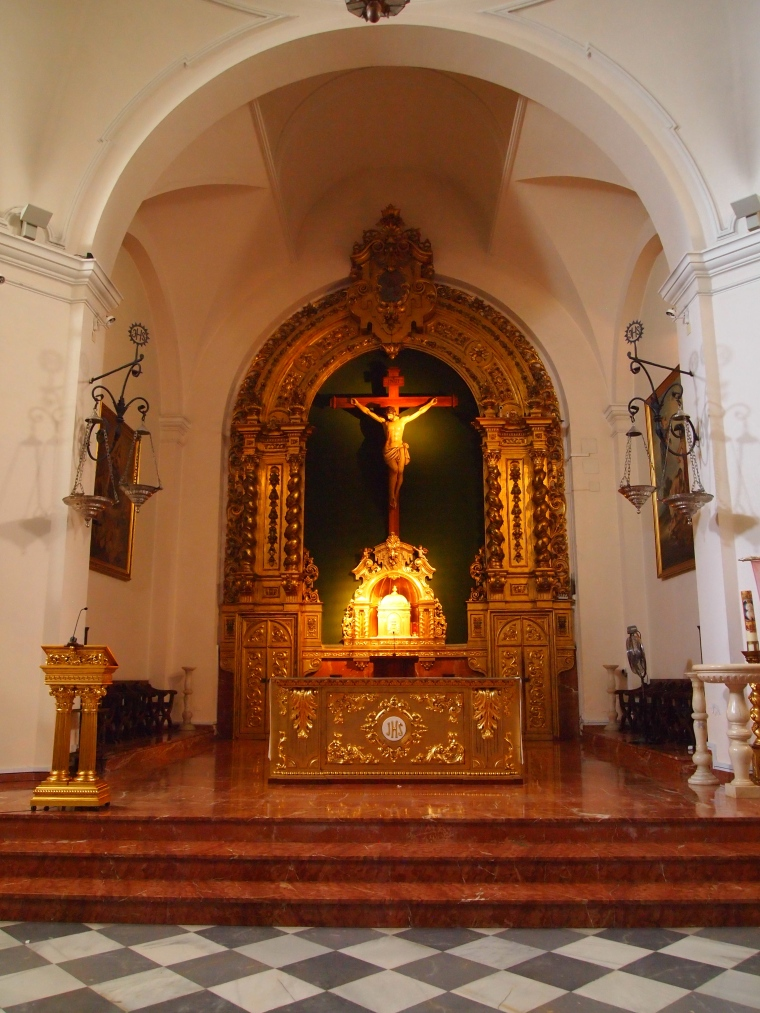 inside the Church of El Salvador