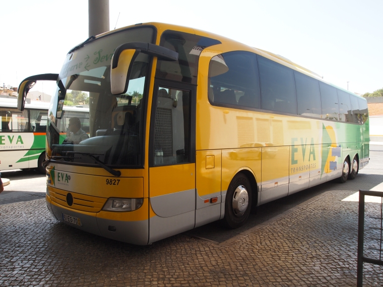 the EVA bus at the Tavira bus terminal