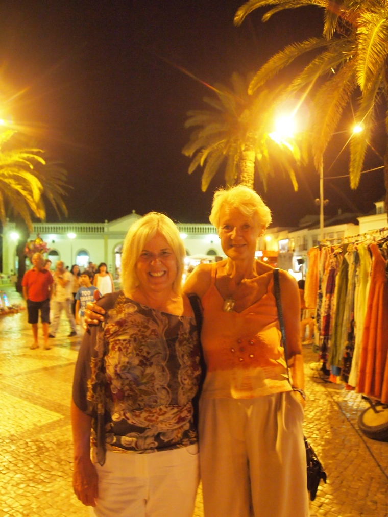 me with Jo, walking around in Tavira