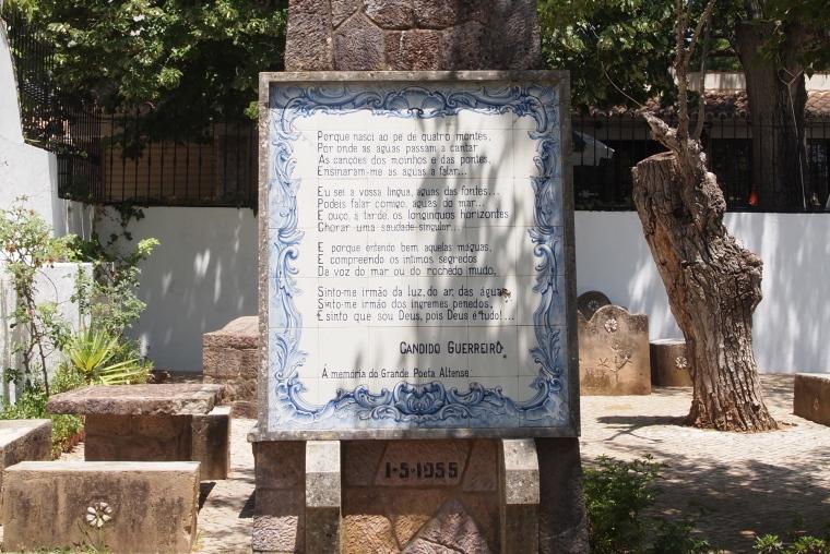 poem by Alte's famous poet, Cândido Guerreiro