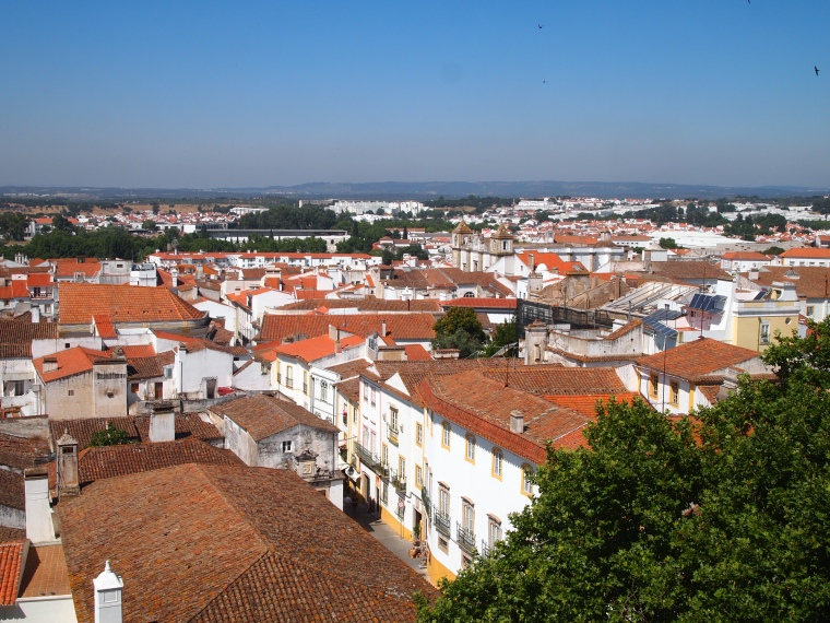 view of Évora from the roof of the Cathedral