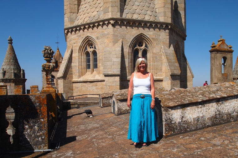 me on the roof of the Cathedral of Évora