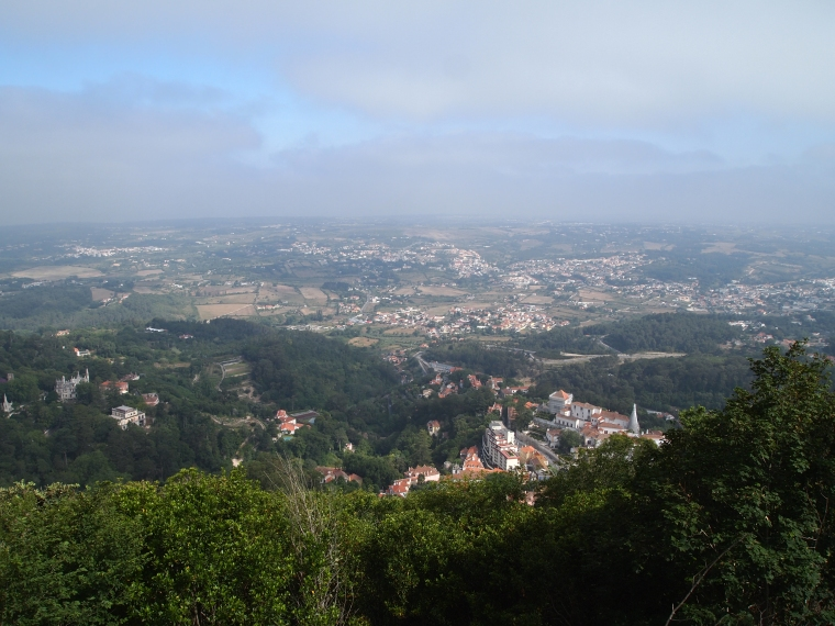 View of Sintra from Castelo dos Mouros