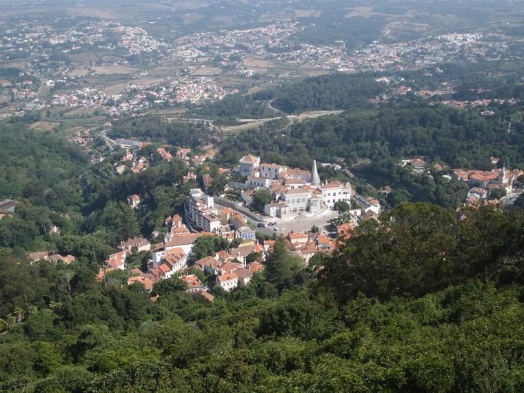 View of Sintra-Vila from Castelo dos Mouros