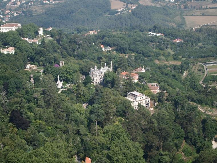 View of Quinta da Regaleira from Castelo dos Mouros