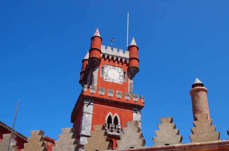 clock tower at Palácio Nacional da Pena