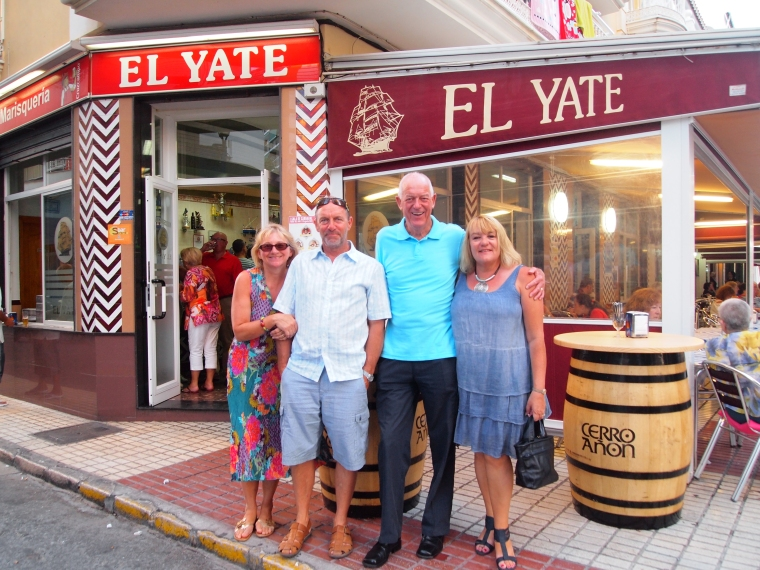 Daniella, Ross, Michael and Marianne at El Yate