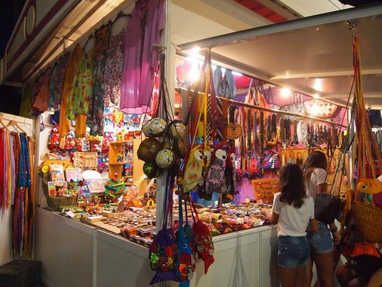 the outdoor night market in Torre del Mar