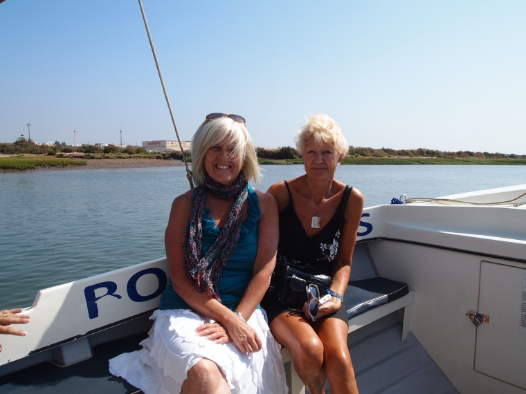 me and Jo on the boat
