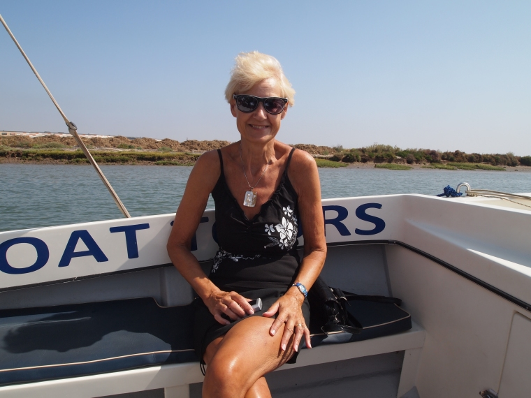 Jo on the boat