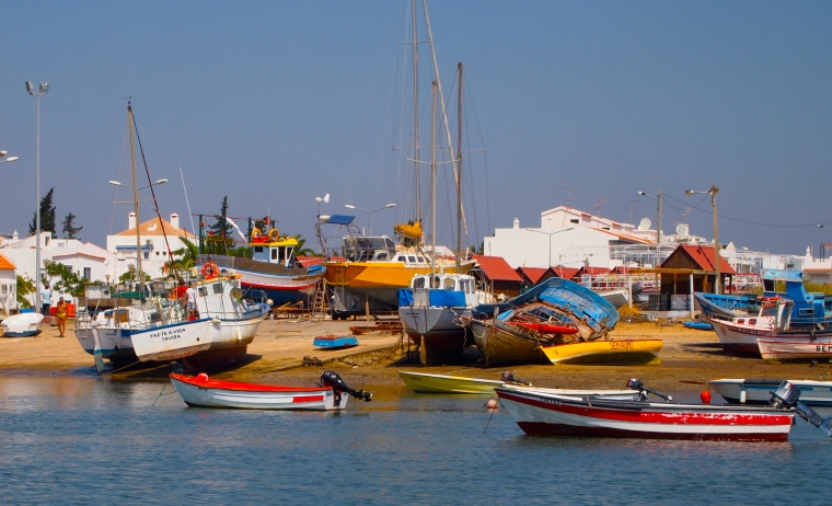 fishing boats near Santa Luzia