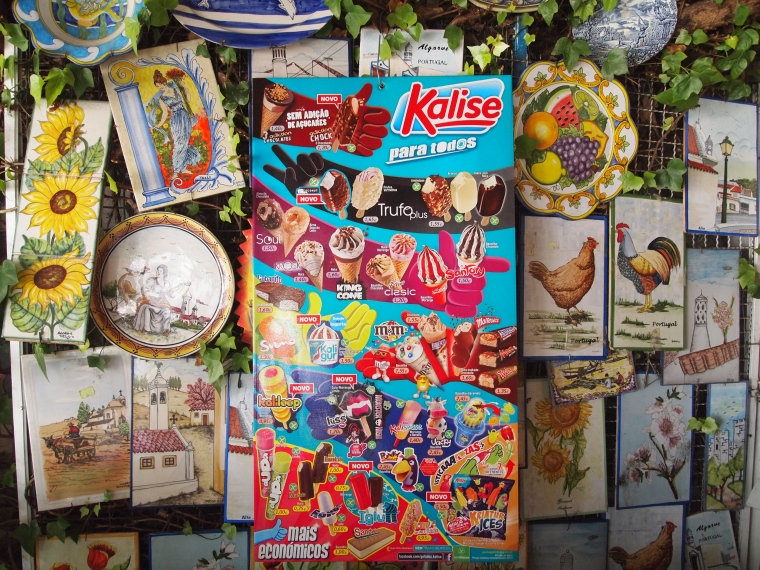 ice cream and souvenirs