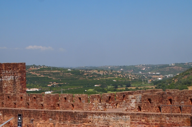 view of Silves from inside the castle walls
