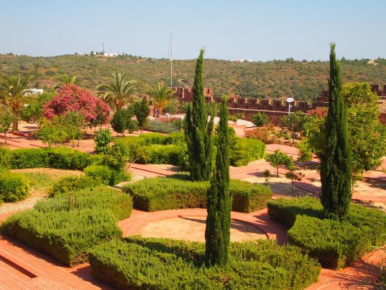 gardens inside the castle