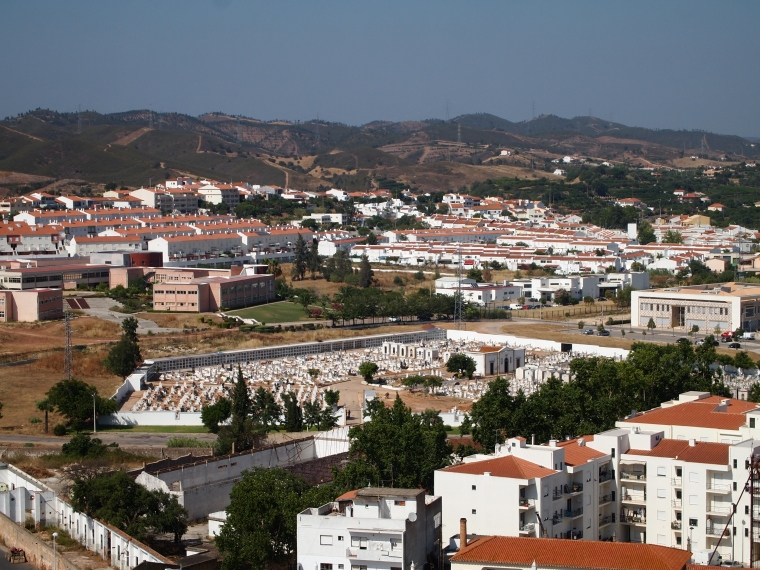 view of Silves from the castle
