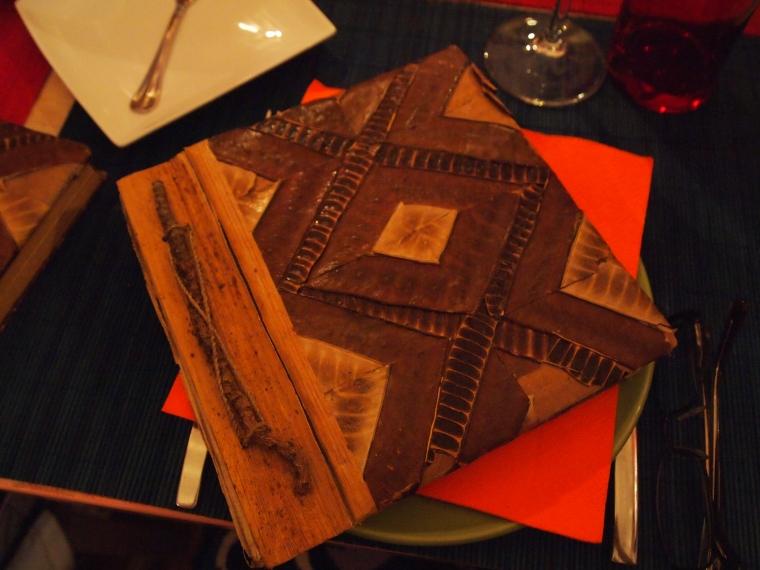 the menu at A Taska