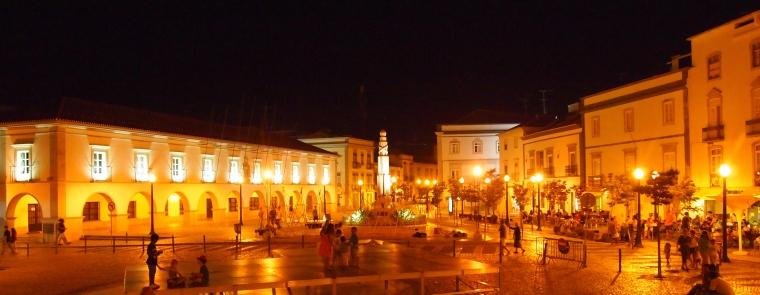 a square in Tavira