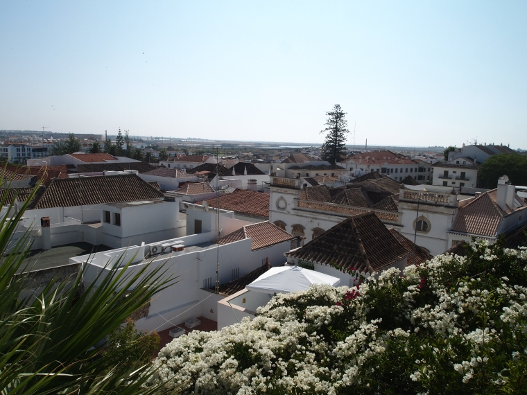 view of Tavira from the tower
