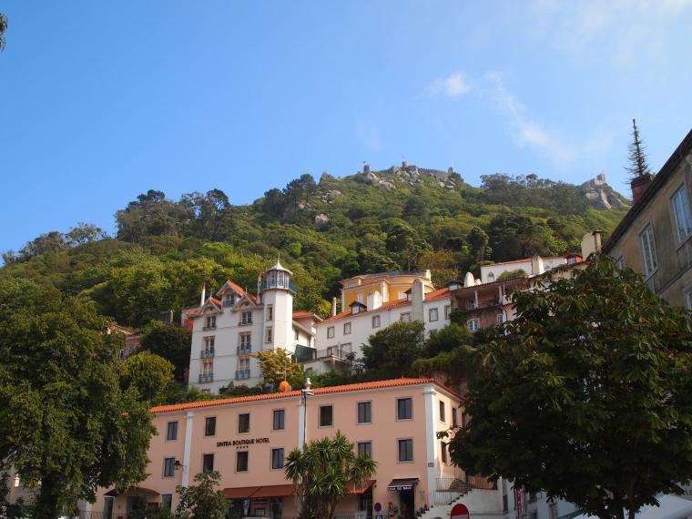 View of the Moorish Castle from Centro Historico Sintra