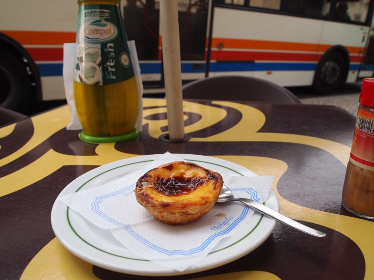 pastel de nata at Café Piela's