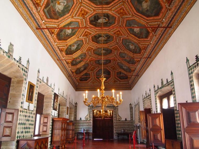 the Swan Room at Palácio Nacional de Sintra