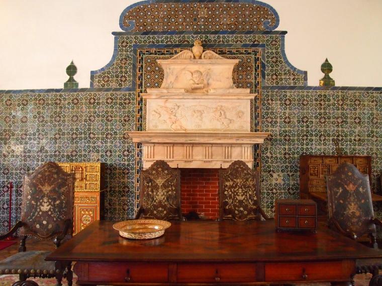 inside Palácio Nacional de Sintra