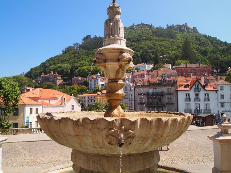 fountain at Palácio Nacional de Sintra