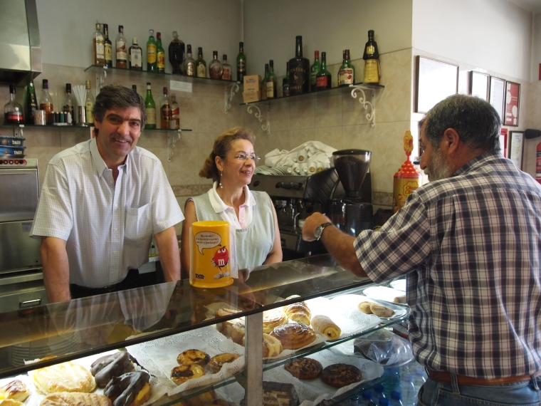 Manuel and Leonor at Cafe Piela's in Sintra