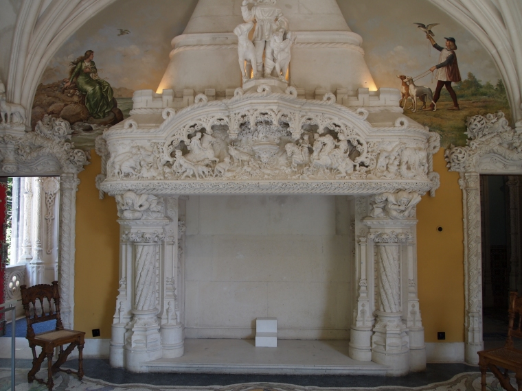 Fireplace in the Hunting Room