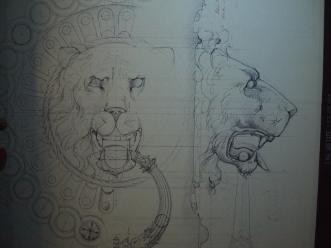 Drawing of door knocker