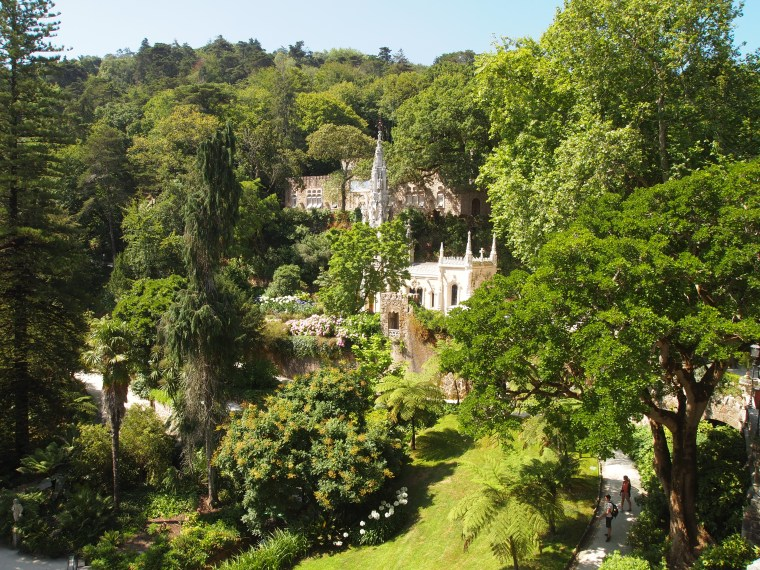 view of the garden at Quinta da Regaleira