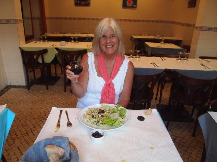 me enjoying every bite of my dinner at Sopa d'Avo