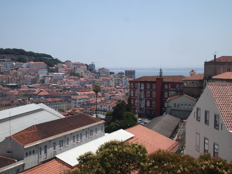 the view of Lisbon from the Miradouro de Sao Pedro de Alcantara
