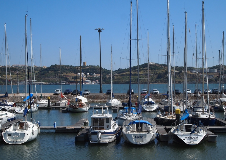 marina near Belém Tower