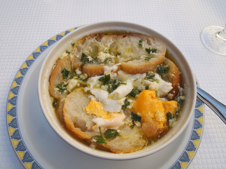 egg and bread soup