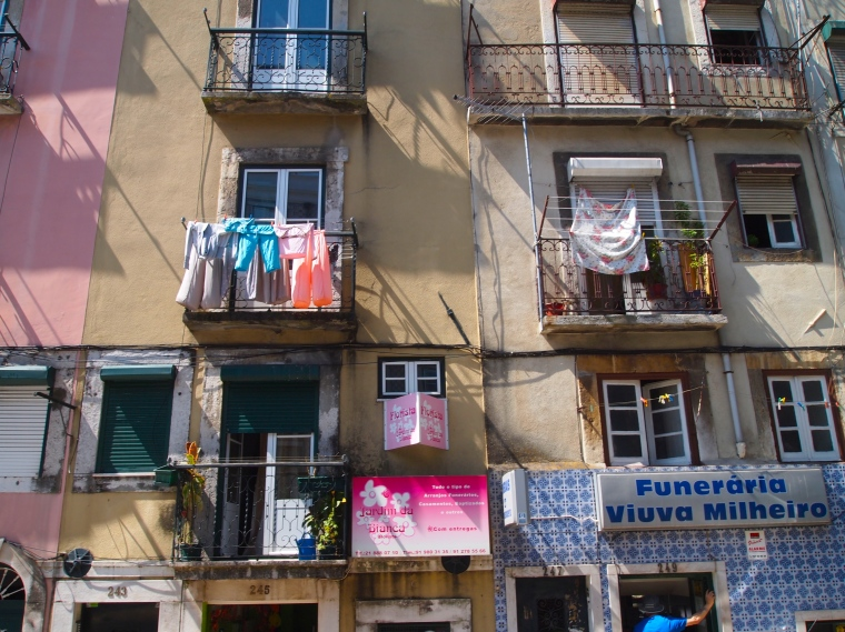 Laundry on Lisbon balconies