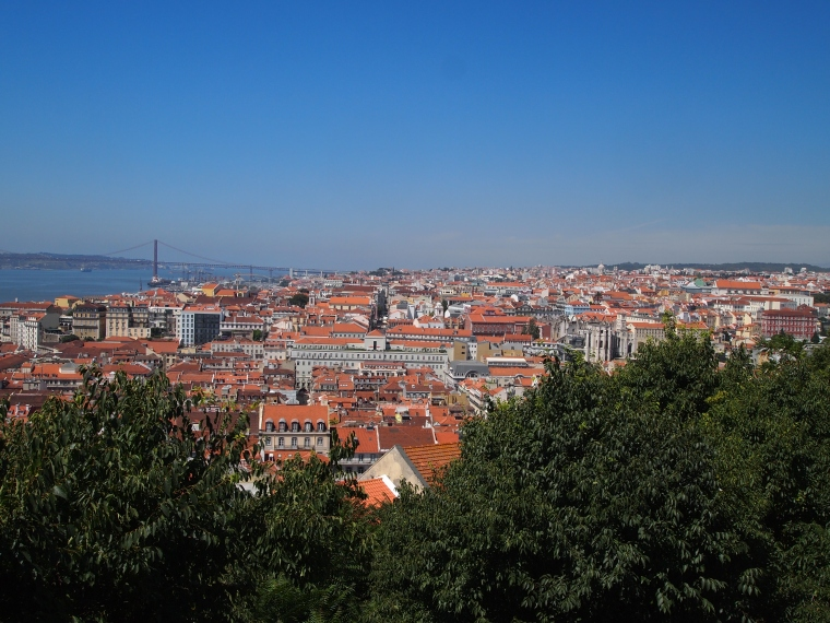 view of Lisbon from Portas Do Sol in Alfama