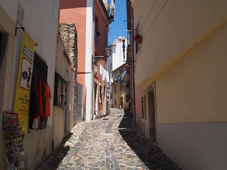 the Alfama neighborhood around the Castelo de São Jorge