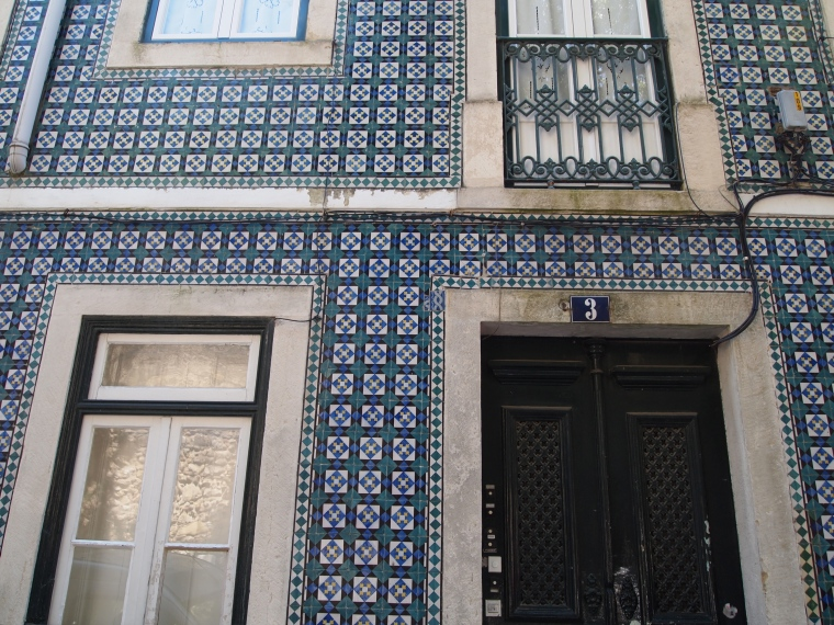 Portuguese tiles on the facade