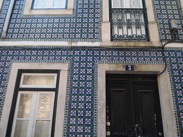 Portuguese tiles on the facade