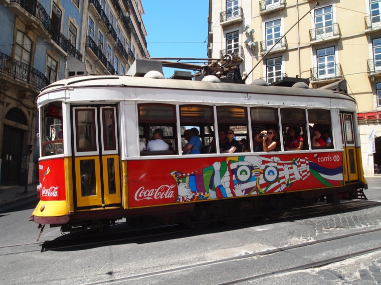 another tram in Lisbon's Alfama