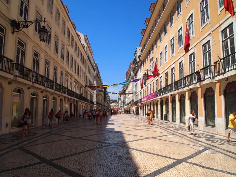 a pedestrian shopping street
