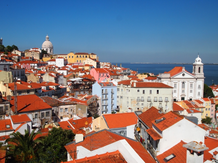 view from Miradouro of Santa Luzia